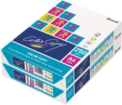 Kopierpapier Mondi Color Copy, DIN A4, 250 g/m², reinweiß, 1 Paket = 250 Blatt