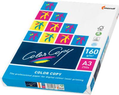 Kopierpapier Mondi ColorCopy, DIN A3, 160 g/m², reinweiß, 1 Paket = 250 Blatt