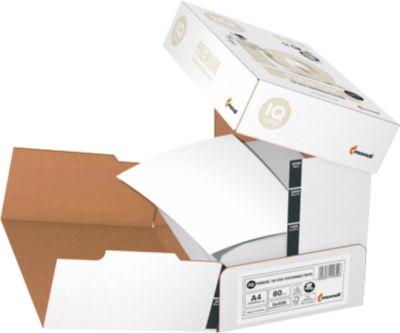 Kopierpapier Mondi IQ Premium Cleverbox, DIN A4, 80 g/m², hochweiß, 1 Karton = 5 x 500 Blatt