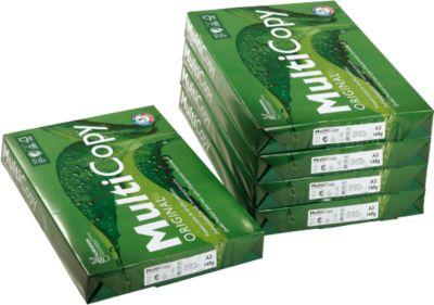 Kopierpapier MultiCopy, DIN A3, 160 g/m², hochweiß, 1 Karton = 5 x 250 Blatt