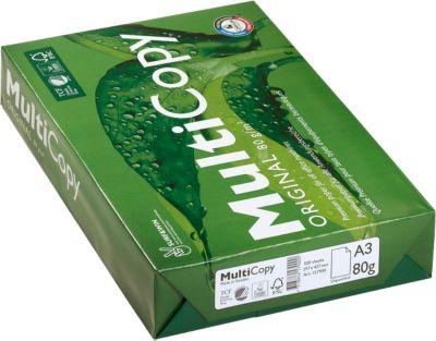Kopierpapier MultiCopy, DIN A3, 80 g/m², hochweiß, 1 Paket = 500 Blatt