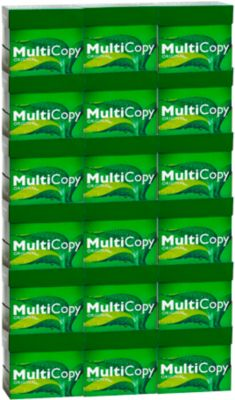 Kopierpapier MultiCopy, DIN A4, 80 g/m², hochweiß, 1 Palette = 100 x 500 Batt