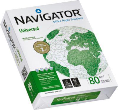 Kopierpapier Navigator Universal, DIN A4, 80 g/m², hochweiß, 1 Karton = 10 x 500 Blatt