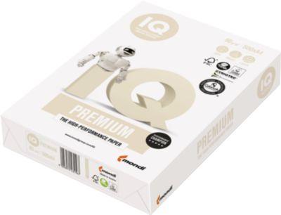 Kopierpapier Papyrus IQ Premium, DIN A4, 80 g/m², reinweiß, 1 Paket = 500 Blatt