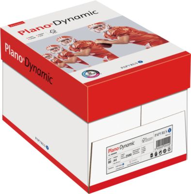 Kopierpapier Papyrus Plano® Dynamic, DIN A4, 80 g/m², reinweiß, 1 Karton = 5 x 500 Blatt