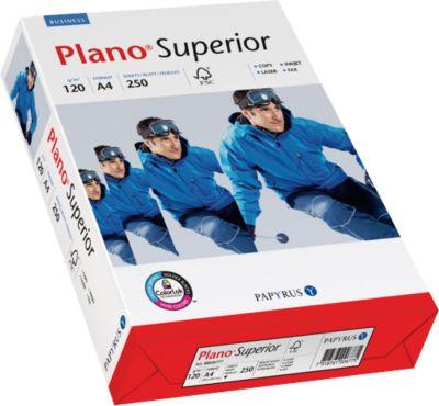 Kopierpapier Papyrus Plano® Superior, DIN A4, 120 g/m², hochweiß, 1 Paket = 250 Blatt