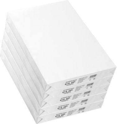 Kopierpapier Schäfer Shop CLIP Paper@Print, DIN A3, 80 g/m², weiß, 1 Karton = 5 x 500 Blatt