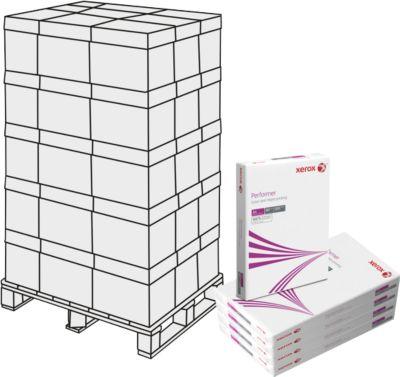 Kopierpapier Xerox Performer ECF, DIN A4, 80 g/m², weiß, 1 Palette = 240 x 500 Blatt