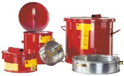 Korf met kleine onderdelen voor het wassen en dompelen van was- en dompelcontainers met een inhoud van 30 liter