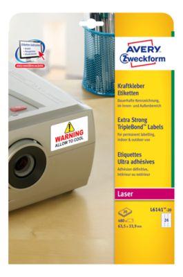 Kraftkleber-Etiketten für Laserdrucker, 45,7 x 25,4 mm
