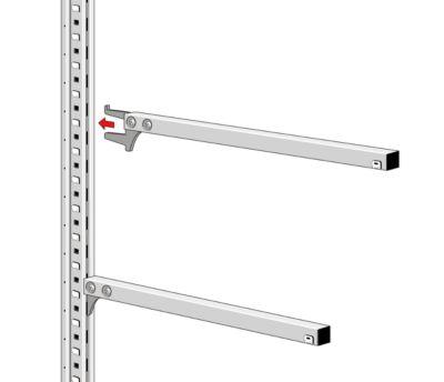 Kragarmkonsole, für Kragarmregal KR 3000, T 400 mm