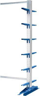 Kragarmregal-Anbaufelder KRM, doppelseitig, Höhe 2500 mm, Kragarmlänge 400 mm