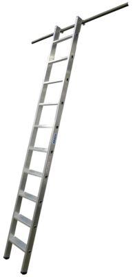 KRAUSE Regalleiter, Aluminium, mit 1 Paar Einhängehaken, 10 Stufen