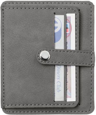 Kreditkartenetui Creativ Design® LaserCard, mit RFID-Schutz, Werbedruck 50 x 30 mm/Lasergravur 60 x 30 mm, Kunststoff, grau
