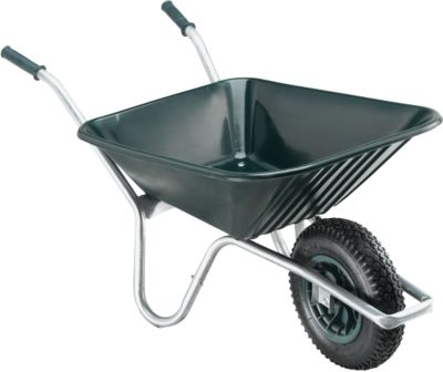 Kruiwagen, 85 liter, 11 kg, kunststof, groen