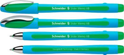 Kugelschreiber Slider Memo, grün, 10 Stück