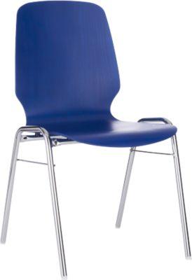 Kuipstoel 710, afgeronde zitkuip, blauw