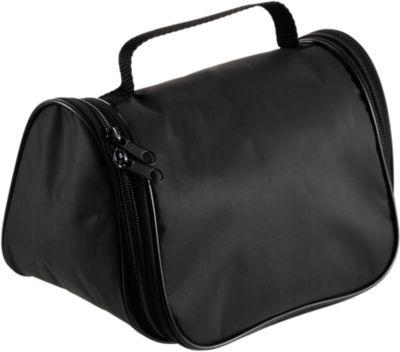 Kulturbeutel Easy Travel, wasserdichtes 190T Polyester, Werbedruck 1-farbig 80 x 40 mm, schwarz