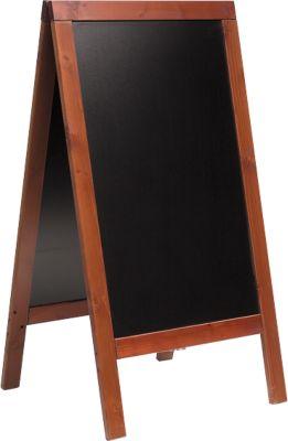 Kundenstopper, B 715 x H 1350 mm, mahagoni gebeizt