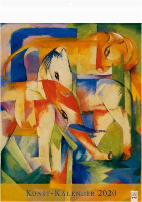 Kunst-Kalender, 310 x 440 mm, viersprachig, mit bekannten Künstlern, Werbefläche 310 x 50 mm