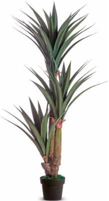 kunstplanten PAPERFLOW, gemaakt van PE, groen, incl. kunststof pot, Yucca, 1.550 mm
