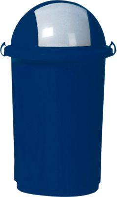 Kunststof afvalbak, 50 liter, blauw