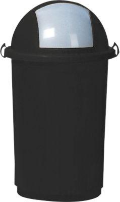 Kunststof afvalbak, 50 liter, grijs