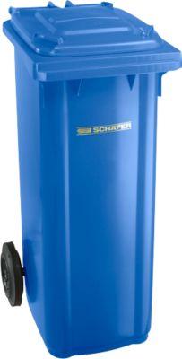 Kunststof afvalcontainer 140 l, blauw