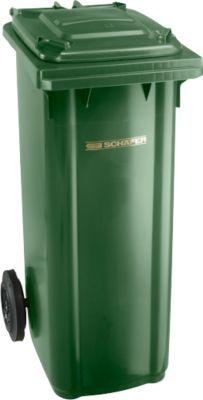 Kunststof afvalcontainer 140 l, groen