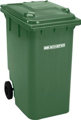 Kunststof afvalcontainer GMT, 360 l, groen