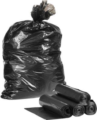 Kunststof afvalzakken,120 liter, zwart, 250 stuks