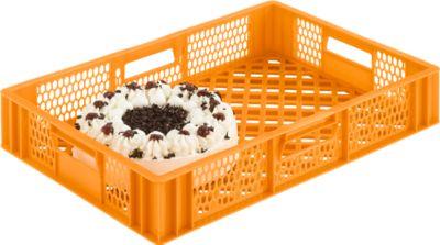 Kunststof bak 108, geel-oranje, geschikt voor levensmiddelen
