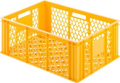 Kunststof bak 125, geel-oranje