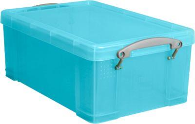 Kunststof box, 9 liter, transparant aqua