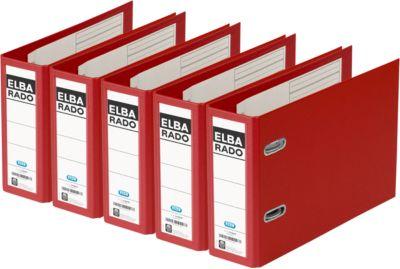 Kunststof ordners rado Plast A5 liggend, 75 mm, rood, 5 stuks