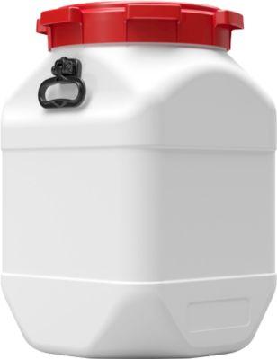 Kunststofffass CurTec, quadratisch, mit Schraubdeckel, HDPE, wasserdicht, 66 l