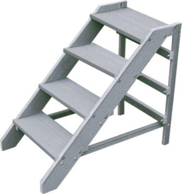 Kunststofftritt im Bausatz, 4 Stufen