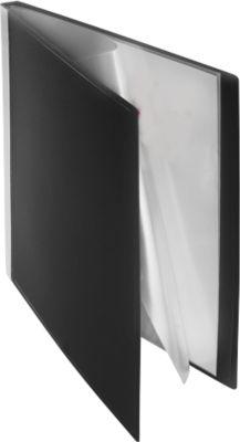 Kwaliteits-PP-presentatiemappen, zwart, 100 hoezen A4
