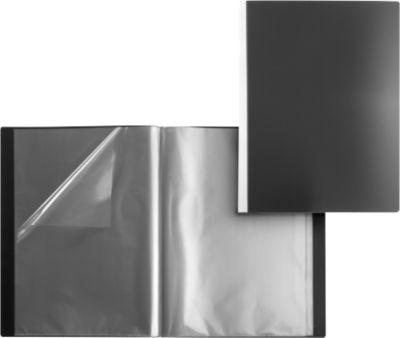 Kwaliteits-PP-presentatiemappen, zwart, 30 hoezen A3