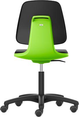 LABSIT Labordrehstuhl, o. Armlehne, mit Rollen, Rückenlehnenhöhe 420 mm, Stoff, grün