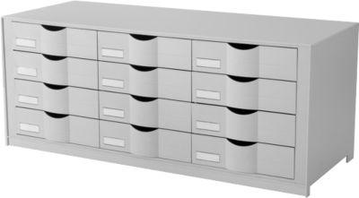 Lade-element m. 12 laden, grijs
