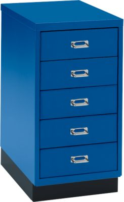 ladekast DIN A4, blauw, 5 laden, 675 mm hoog
