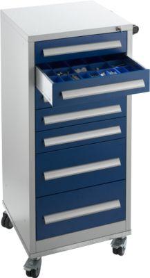 Ladekast SFR 70, 7 laden, zilvergrijs/blauw