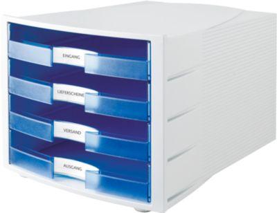 Ladenbox Impuls, 4 laden, bl. tr., open