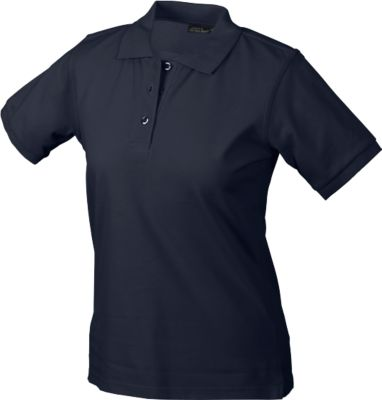 Ladies's Poloshirt, navy Gr. M