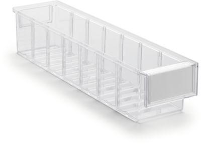 Lagerschublade Serie 4010, transparent, L 400 x B 92 x H 82 mm, 1,9 L