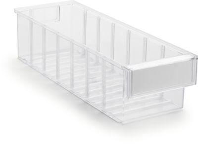 Lagerschublade Serie 4015, transparent, L 400 x B 132 x H 100 mm, 3,2 L