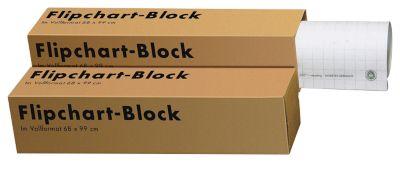 Landré Flipchart-Block, 5 Stück, aus 100% Recycling-Papier, blanko