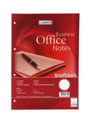 Landré Notablok Office, geruit, 100 vel, 5 stuks