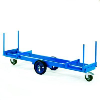 Lange materiaalwagen 2500 x 600 mm, draagvermogen 2000 kg.